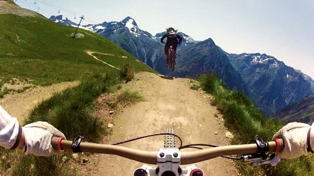 Claudia Clement Downhill Mountain Bike at Diable