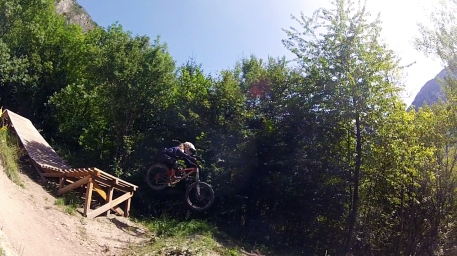 Claudia Clement Downhill Mountain Bike at Venosc