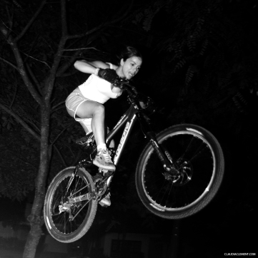 Claudia Clement riding Da Bomb - night Ride at Sao Paulo