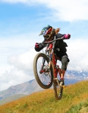 Claudia Clement Downhill Mountain Bike at Diable - Les 2 Alpes
