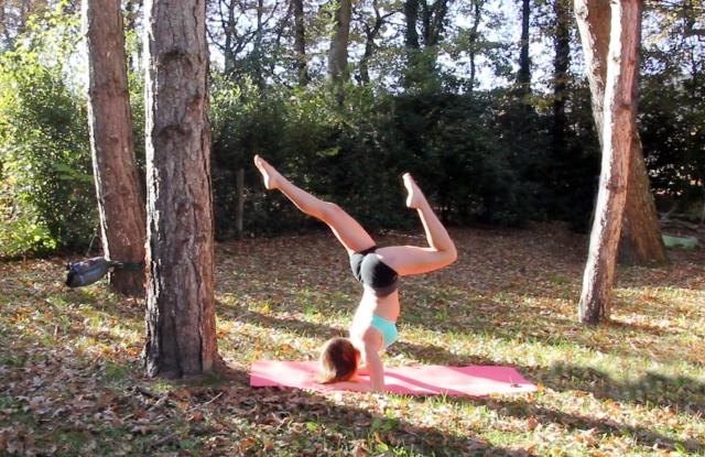 Claudia Clement - Forearm Balance - Pincha Maruyasana - Yoga inversion