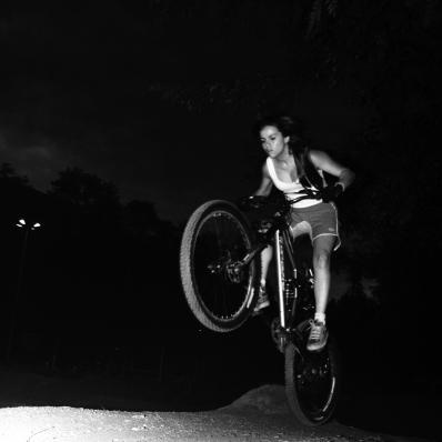 Claudia Clement riding Da Bomb - night ride at Sao Paulo