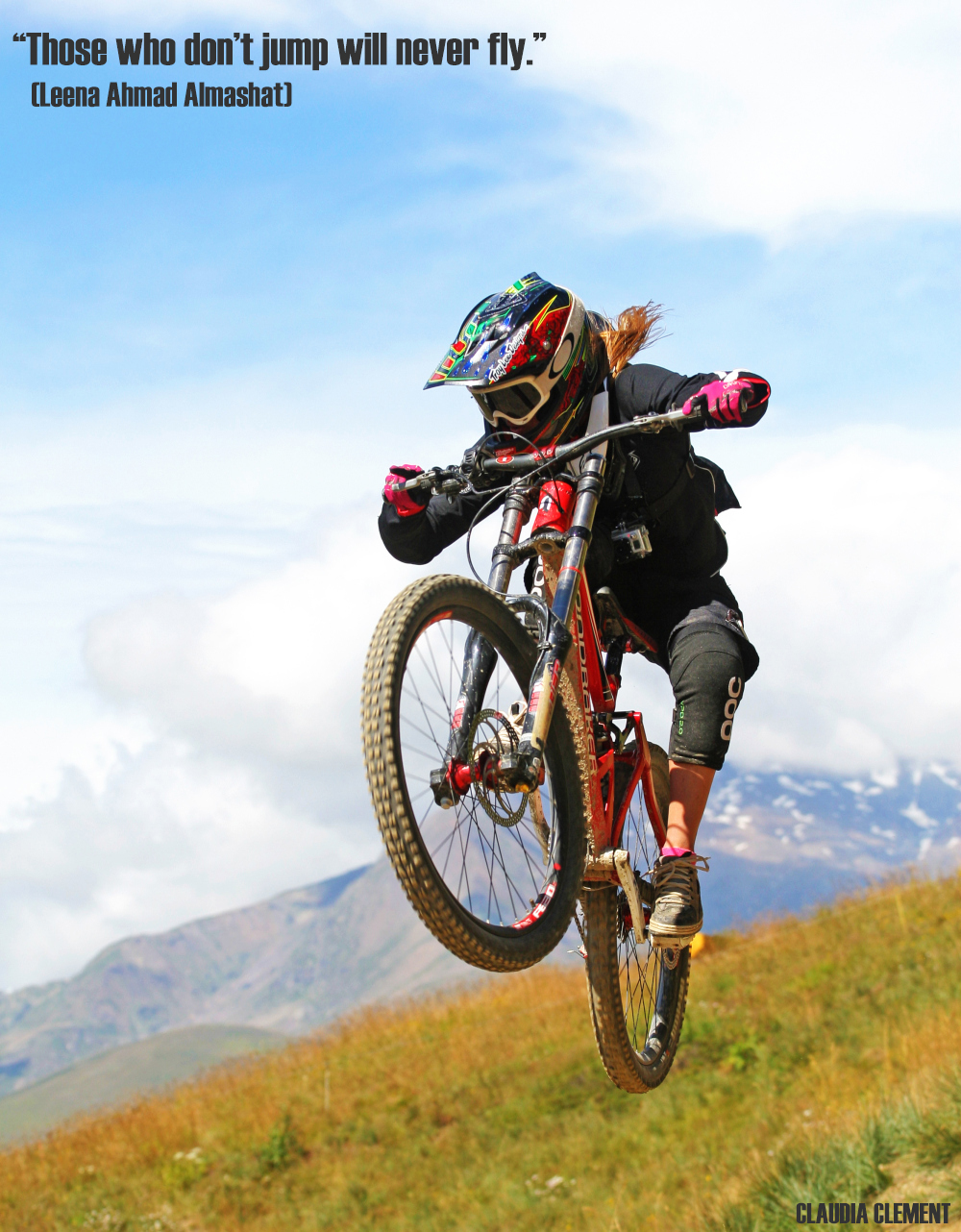 Claudia Clement Downhill Mountain Bike Diable - Les 2 Alpes, MTB, bikepark, bike , mondraker summum